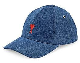 Ami Paris Men's De Coeur Denim Baseball Cap