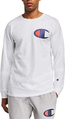 Champion Men's Heritage Long-Sleeve Elevated Graphics T-Shirt