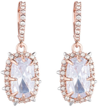 Alexis Bittar Crystal Framed Cushion Lever Back Earring