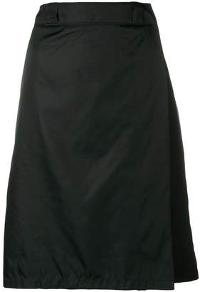 Prada flap front midi skirt