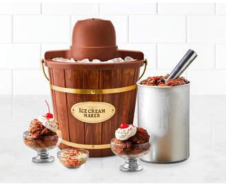 Nostalgia 4-Quart Wood Bucket Ice Cream Maker