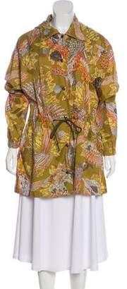 Salvatore Ferragamo Printed Button-Up Coat