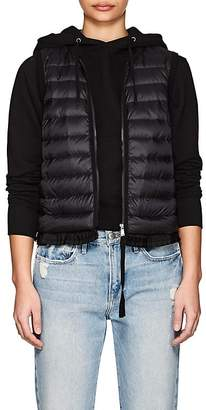 Moncler Women's Ruffled-Hem Down-Quilted Vest