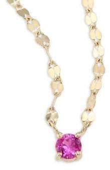 Lana Girl Lana Girl Pink Sapphire Pendant Necklace