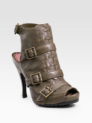 Juicy Couture Nakia Peep-Toe Booties