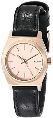 Nixon Women's A5091932 Small Time Teller Leather Watch