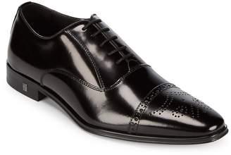 Versace Men's Medallion Toe Leather Oxfords
