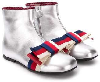 Gucci Kids square toe boots