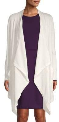 Donna Karan Mesh Open Front Cardigan