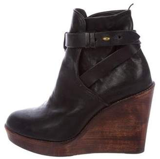 Rag & Bone Leather Wedge Booties