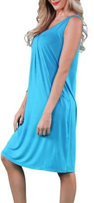 24/7 Comfort Apparel Women's Plus Size Drape Front Tank Dress