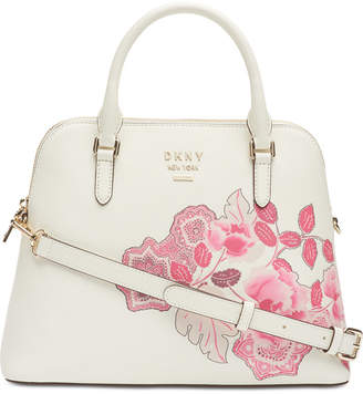 DKNY Whitney Leather Floral Dome Satchel