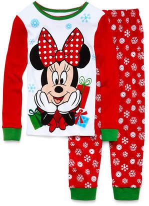Disney Collection Minnie Mouse Christmas Pajama Set - Girls 2-10