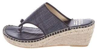 Andre Assous Woven Leather Wedge Sandals