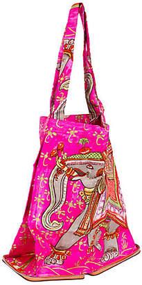 One Kings Lane Vintage HermAs Orange & Hot Pink Silky Pop Bag - Vintage Lux
