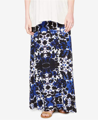 Design History Maternity Printed Maxi Skirt $78 thestylecure.com