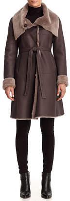Gorski Belted Reversible Lamb Shearling Stroller Coat