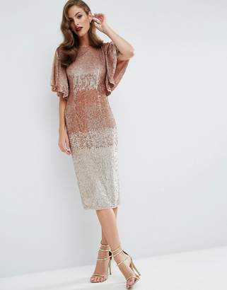ASOS RED CARPET Ombre Embellished Caftan Midi Dress $226 thestylecure.com