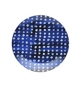 David Jones Shibori Blue Dot Side Plate 23Cm