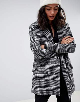 Asos Design DESIGN slim coat in check
