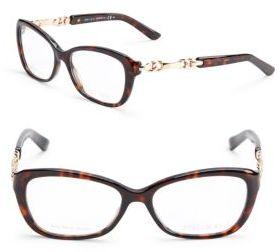 Jimmy ChooPrinted Rectangular Optical Glasses