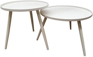 Sunlong Australia Outdoor Coffee & Side Tables Tatu Outdoor Side Table, White (Set of 2)