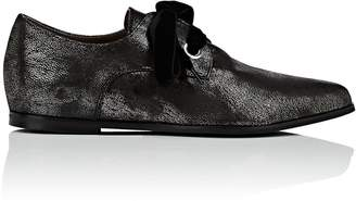 Barneys New York WOMEN'S METALLIC LEATHER OXFORDS