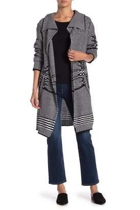 Modern Designer Black & White Knit Sweater