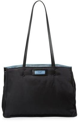 Prada Tessuto Large Double Shoulder Tote Bag $1,730 thestylecure.com