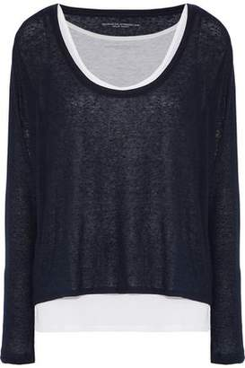 Majestic Filatures Layered Slub Cashmere And Micro Modal-Blend Jersey Top