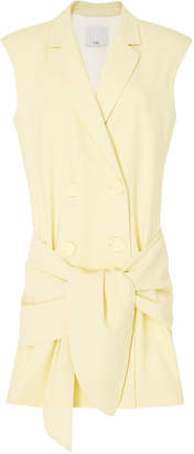 Tibi Sleeveless Crepe Jacket Dress