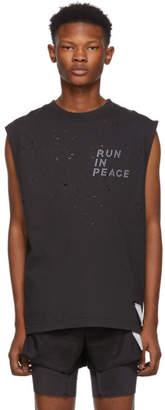 Satisfy Black R.I.P. Moth Eaten Muscle T-Shirt