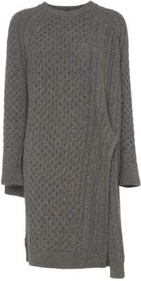 Stella McCartney asymmetric cable knit jumper