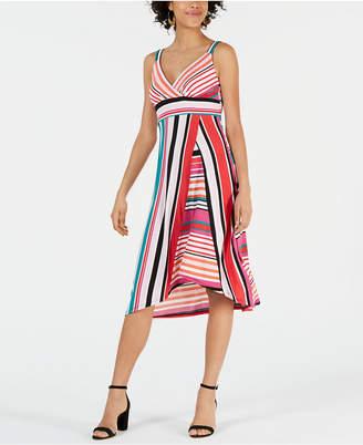 John Paul Richard Petite Mixed-Stripe Dress