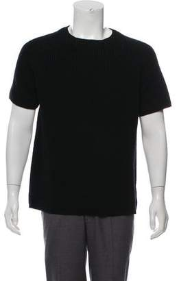 Theory Short Sleeve Crew Neck Sweater