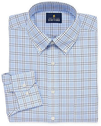 STAFFORD Stafford Executive Non-Iron Cotton Pinpoint Oxford Big and Tall Long-Sleeve Dress Shirt
