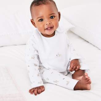 The White Company Fawn Print Sleepsuit & Bib Set