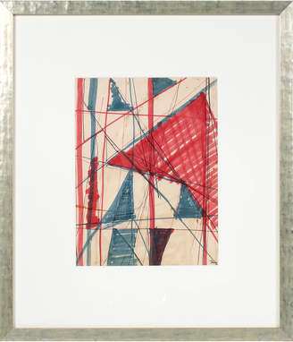 """Serena & Lily """"Red & Blue Triangular Abstract"""" by Raphael Roig"""
