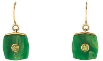 Mark Davis 18K Bakelite & Peridot Drop Earrings