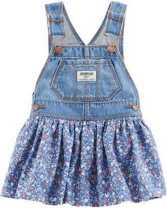 Osh Kosh Oshkosh Bgosh Baby Girl Floral Denim Jumper