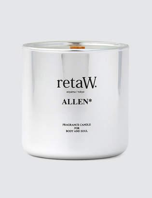 retaW Fragrance Candle Allen Metallic Silver