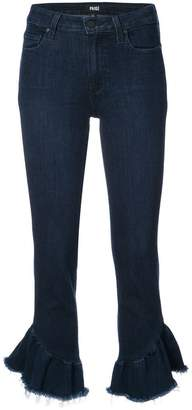 Paige Flora frayed cropped jeans