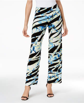 Alfani Printed Wide-Leg Pants