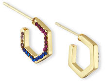 Jules Smith Ombre Hexagon Hoop Earrings $65 thestylecure.com