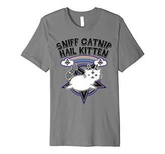 Sniff Catnip Hail Kitten Death Metal Cat Satan Rock Music Premium T-Shirt