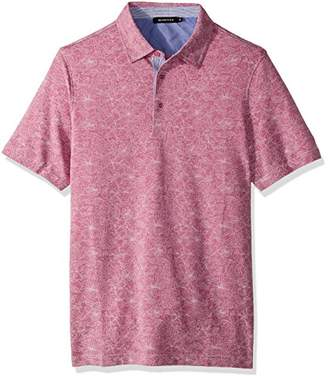 Bugatchi Men's Cotton Modern Fit Knit Polo Shirt