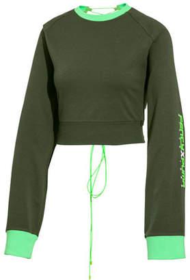 eee6e121b05a FENTY PUMA by Rihanna Laced-Back Crewneck Crop Sweatshirt