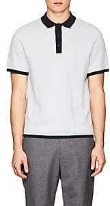 Rag & Bone Men's Finn Striped Cotton-Blend Polo Shirt-Light, Pastel blue