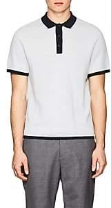 Rag & Bone Men's Finn Striped Cotton-Blend Polo Shirt - Light, Pastel blue