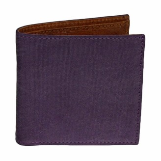 40 Colori Purple Solid Washed Mogador & Leather Wallet